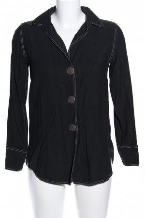 Massimo Dutti Langarm-Bluse schwarz Casual-Look