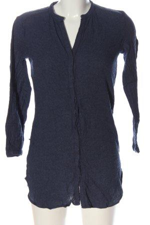 Massimo Dutti Langarm-Bluse blau meliert Casual-Look