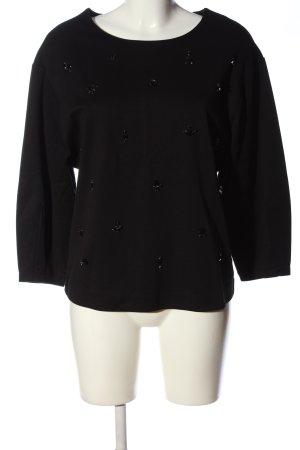 Massimo Dutti Langarm-Bluse schwarz Casual-Look