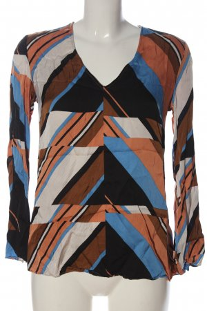 Massimo Dutti Long Sleeve Blouse abstract pattern casual look
