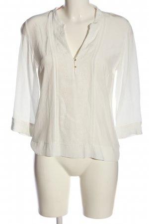 Massimo Dutti Langarm-Bluse weiß Casual-Look