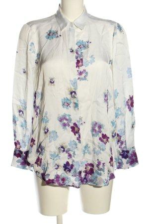 Massimo Dutti Langarm-Bluse Blumenmuster Elegant