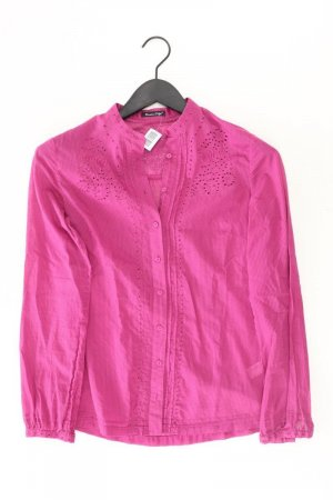 Massimo Dutti Long Sleeve Blouse light pink-pink-pink-neon pink cotton
