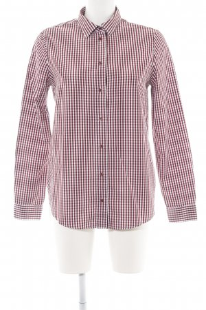 Massimo Dutti Langarmhemd rot-weiß Karomuster Casual-Look