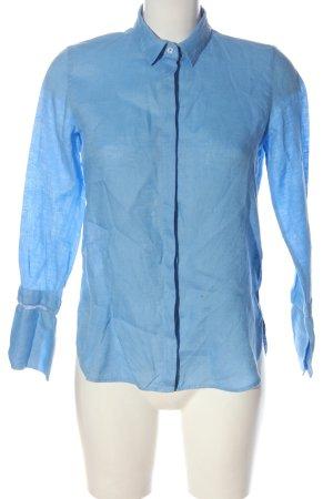 Massimo Dutti Langarmhemd blau Business-Look