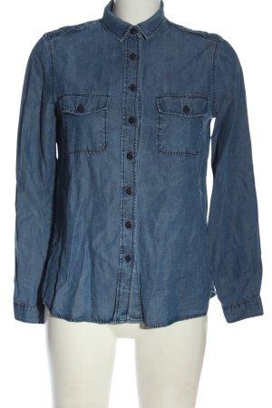 Massimo Dutti Chemise à manches longues bleu style décontracté
