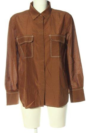 Massimo Dutti Chemise à manches longues brun style décontracté