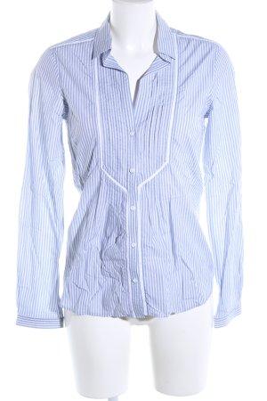 Massimo Dutti Shirt met lange mouwen blauw-wit gestreept patroon zakelijke stijl