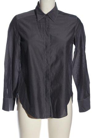 Massimo Dutti Chemise à manches longues gris clair style décontracté