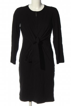 Massimo Dutti Langarmkleid schwarz Elegant