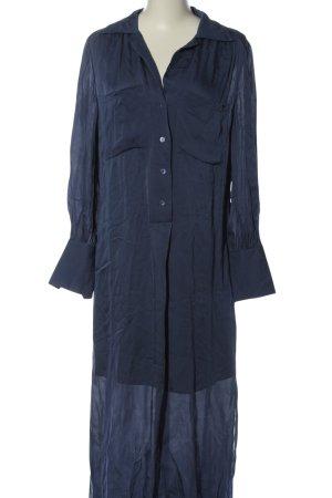 Massimo Dutti Langarmkleid blau Elegant