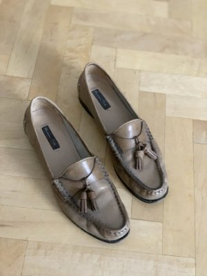 Massimo Dutti Slippers brown leather