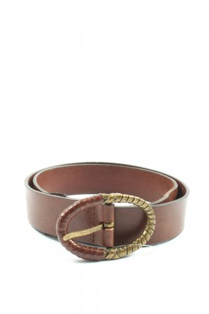 Massimo Dutti Leather Belt brown business style