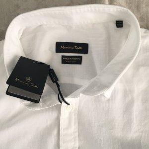 Massimo Dutti Leinen Hemd Bluse