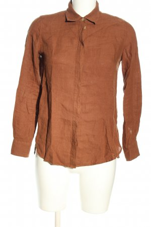 Massimo Dutti Linen Blouse brown business style