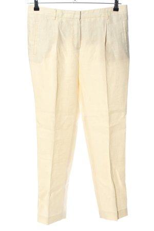 Massimo Dutti Pantalon en lin jaune primevère style d'affaires