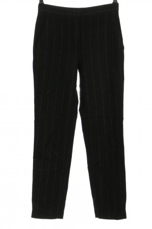 Massimo Dutti Stoffhose schwarz-wollweiß Streifenmuster Casual-Look
