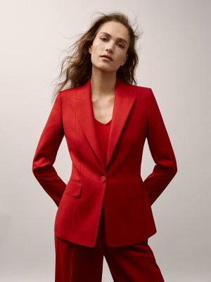 Massimo Dutti Limited Edition slim fit Blazer, Rot, Gr. 38/40, NP.169€