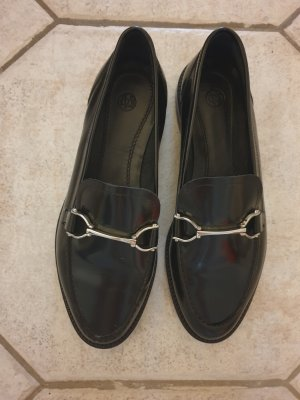 Massimo Dutti Derby black leather