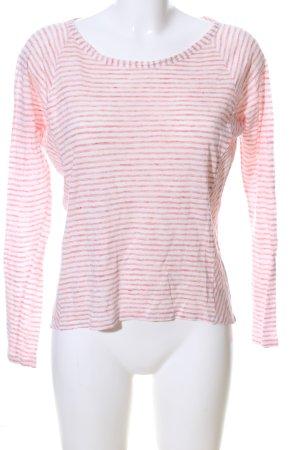 Massimo Dutti Longsleeve pink-wollweiß meliert Casual-Look