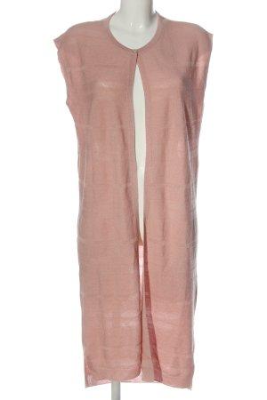 Massimo Dutti Longstrickweste pink Streifenmuster Casual-Look