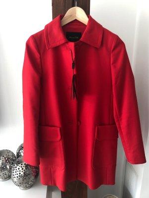 Massimo Dutti Krótki płaszcz czerwony