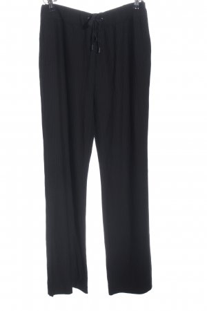 Massimo Dutti Marlene Trousers black striped pattern casual look