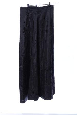 Massimo Dutti Jupe longue noir motif de fleur style d'affaires