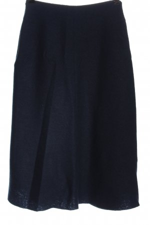 Massimo Dutti Midi Skirt blue classic style