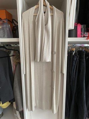 Massimo Dutti Twin set in maglia crema