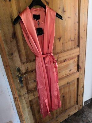 Massimo Dutti Chaleco de vestir albaricoque-rosa