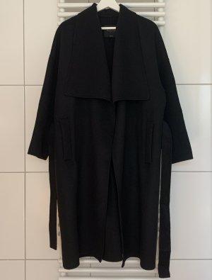 Massimo Dutti Manteau oversized noir laine