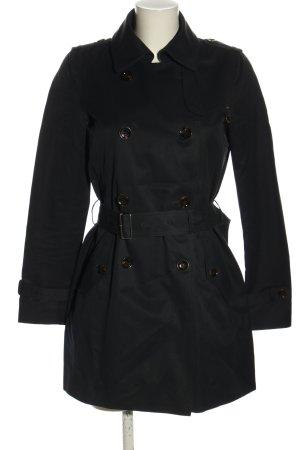 Massimo Dutti Oversized Mantel schwarz Casual-Look