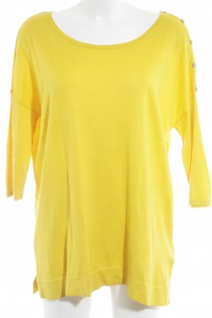 Massimo Dutti Oversized Pullover gelb Casual-Look