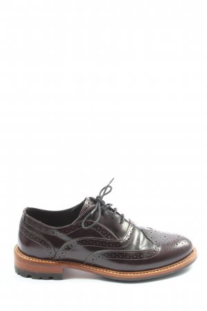 Massimo Dutti Oxfords brown business style