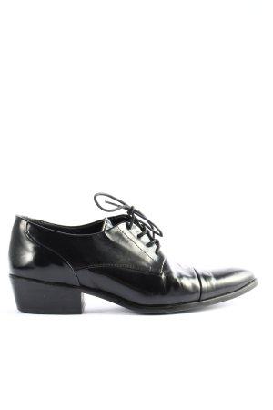Massimo Dutti Oxfordy czarny W stylu casual