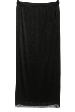 Massimo Dutti Plisowana spódnica czarny W stylu casual