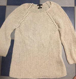 Massimo Dutti Fine Knitted Cardigan oatmeal