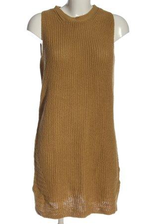 Massimo Dutti Swetrowa sukienka brązowy Siateczkowy wzór W stylu casual