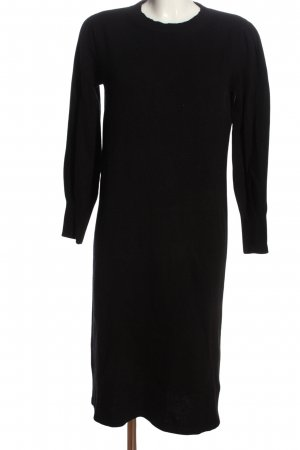 Massimo Dutti Pulloverkleid schwarz Casual-Look