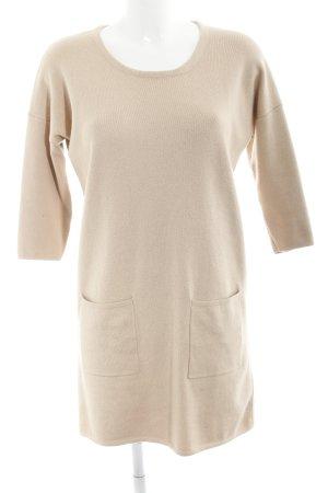 Massimo Dutti Vestido tipo jersey nude estilo sencillo
