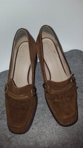 Massimo Dutti Zapatos Informales marrón-coñac Cuero