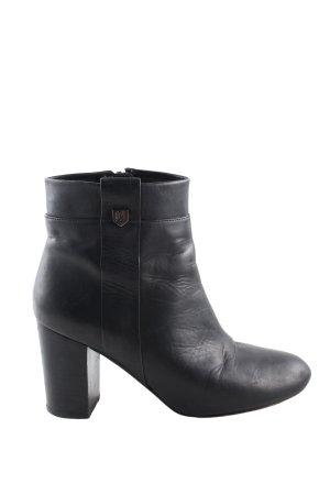Massimo Dutti Reißverschluss-Stiefeletten schwarz Casual-Look