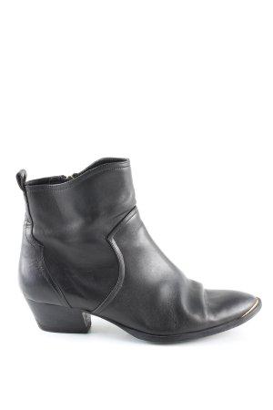 Massimo Dutti Zipper Booties black casual look