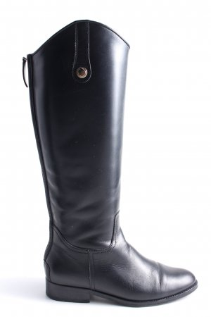 Massimo Dutti Riding Boots black casual look
