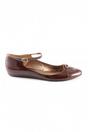 Massimo Dutti Strappy Ballerinas brown business style