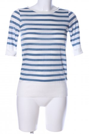 Massimo Dutti Ringelshirt blau-weiß Allover-Druck Casual-Look