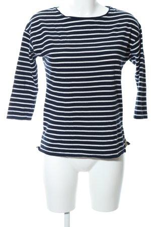 Massimo Dutti Ringelshirt schwarz-weiß Streifenmuster Casual-Look