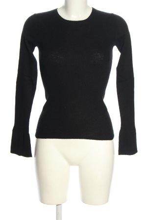 Massimo Dutti Geribd shirt zwart casual uitstraling