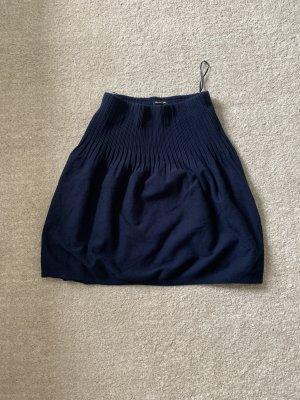 Massimo Dutti Balloon Skirt dark blue